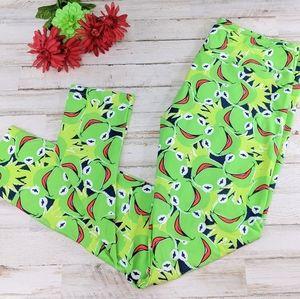 💚Kermit the Frog LulaRoe Leggings.Tall & Curvy